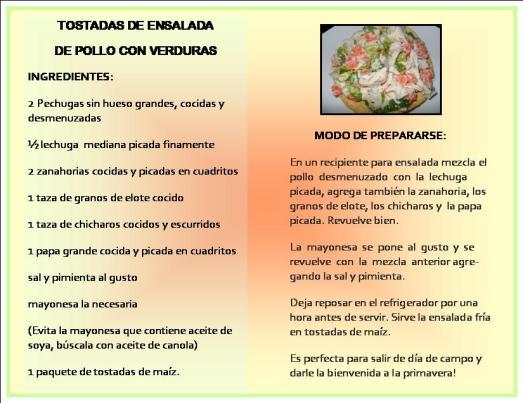 Ensalada de Pollo y verduras