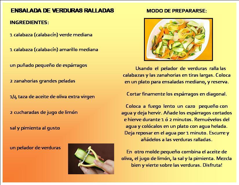 Ensalada de Verduras Ralladas