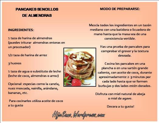 Pancakes Sencillos de Almendras