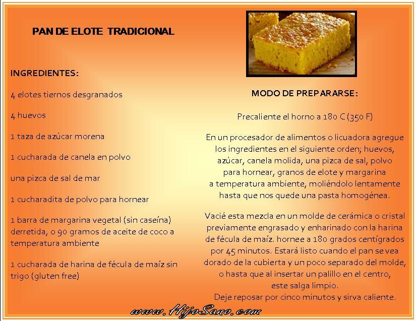 Pan de Elote Tradicional