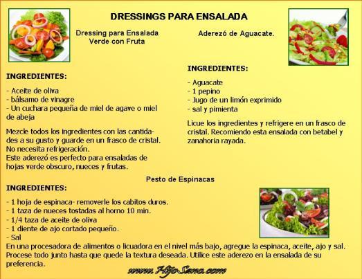Dressings para ensalada